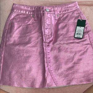 Mini high waisted skirt